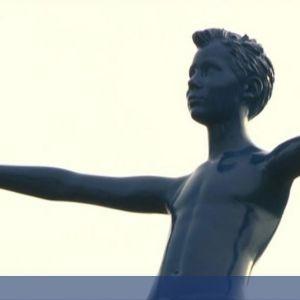 Blaues Männchen in Duderstadt aufgetaucht